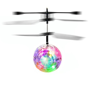 High quality infrared inductive floating led crystal magic rc flying ball helicopter toy for kids