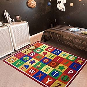 Furnish my Place ABC Alphabet Boxes Area Rug