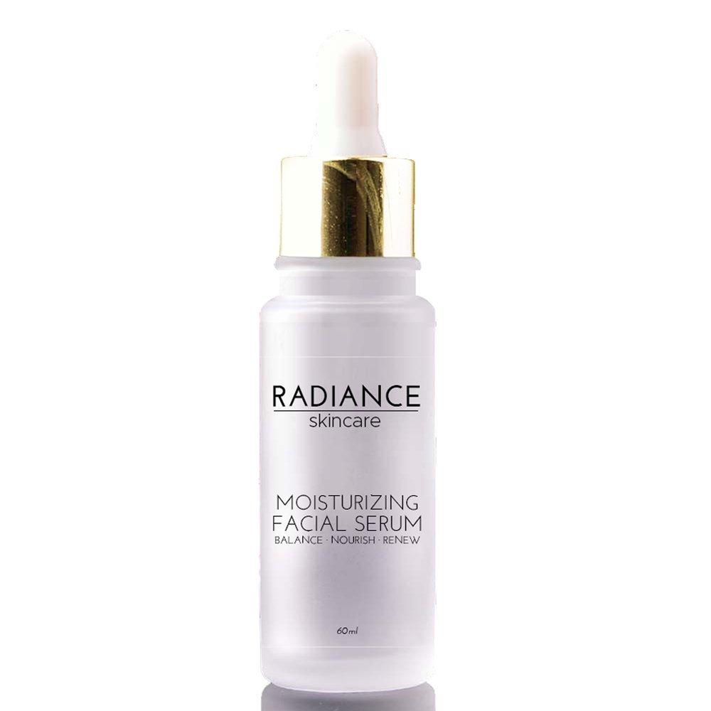 Radiance Skin Care - Moisturizing Facial Serum with Hyaluronic Acid | Natural Anti-Aging Skincare Treatment | Witch Hazel, Aloe, Jojoba Oil | Anti-Aging Acne & Dark Spot Corrector - 60mg / 2 fl oz