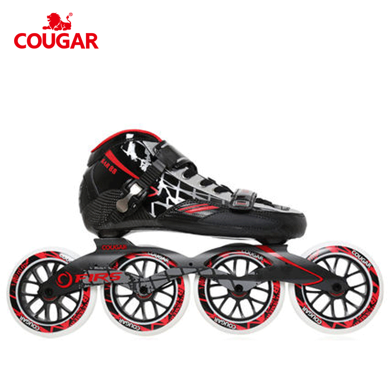 New arrival pu wheels professional roller speed 125mm inline skates, Black red