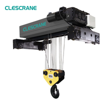 overhead travelling double beam girder crane used electric wire rope hoist Italy