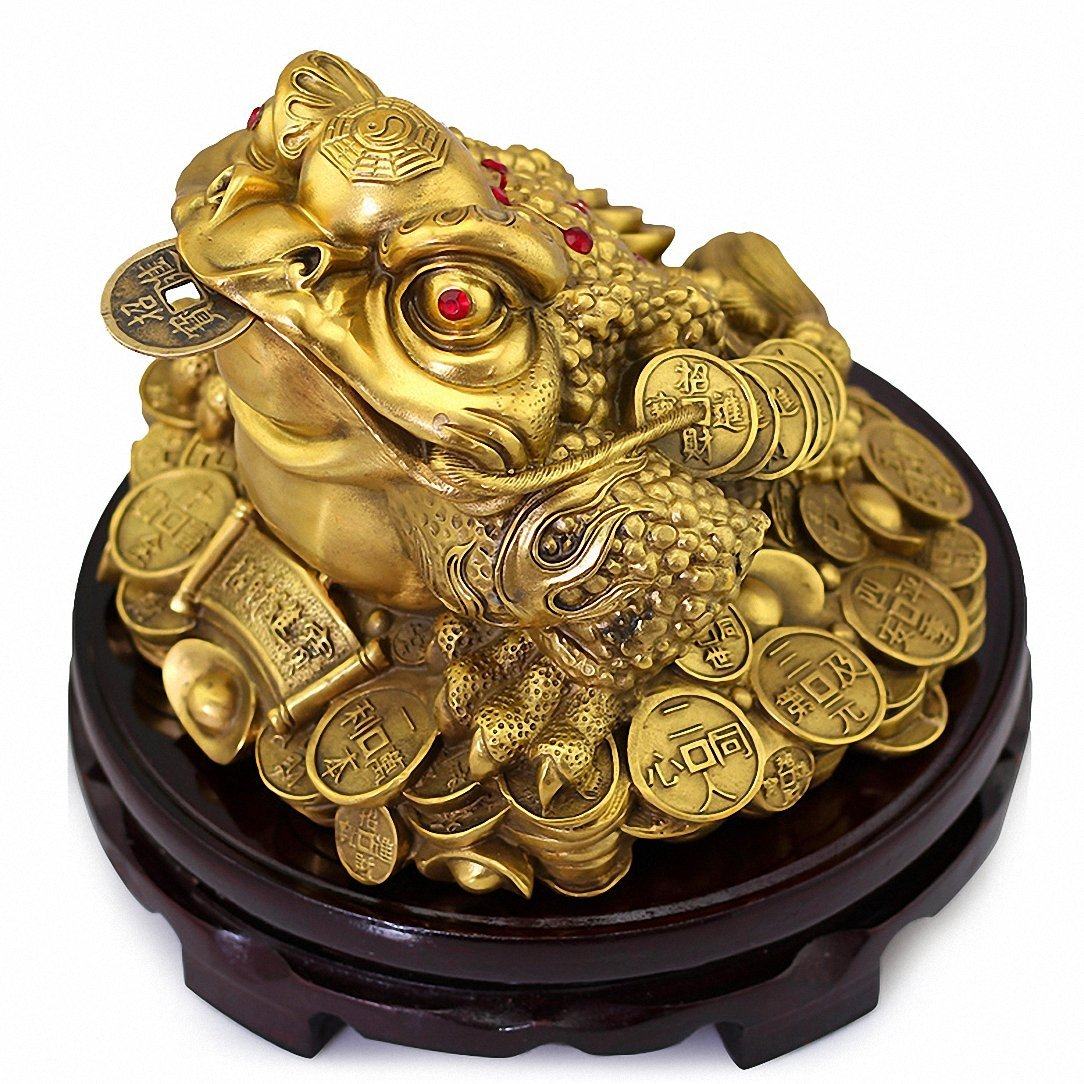 top 10 feng shui tips cre. Get Quotations · Large Size Brass Feng Shui Money Frog(Three Legged Wealth Frog Or Toad) Top 10 Tips Cre
