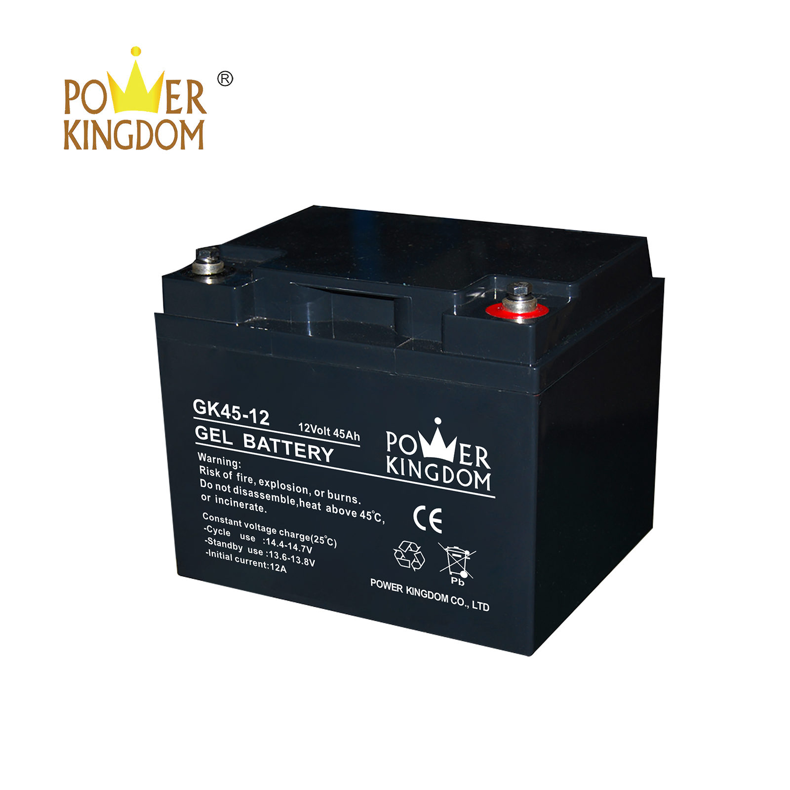 Power Kingdom long standby life rechargeable sealed lead acid battery design solor system-2
