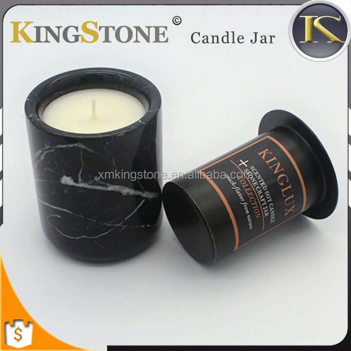 Wholesale Christmas Candle Gift Set Black Scented Soy Candle Jar
