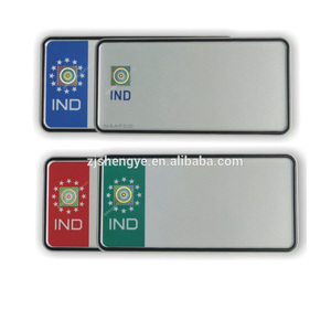 hot sale wholesale promotional reflective custom design printed IND high security registration plate