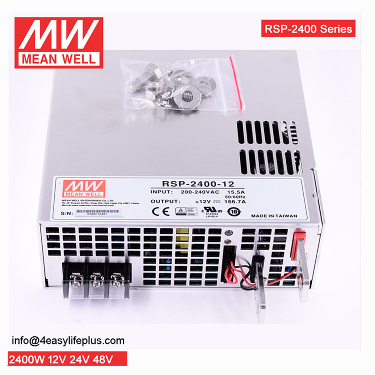 Mean Well Rsp-2400-48 2400w 48v 50a Power Supply With Pfc And Parallel  Function - Buy 2400w 48v 50a Power Supply,Pfc Power Supply Parallel