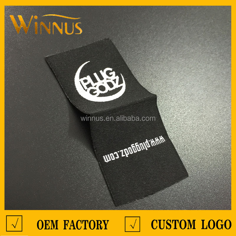 China factory custom brand logo design t shirt tag label maker