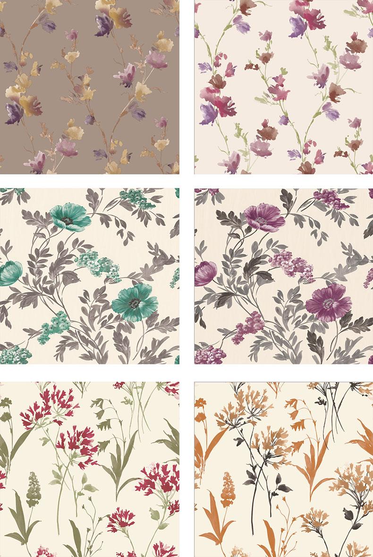 Desain Italia Vinyl Bunga Tale Wallpaper Dekorasi Kamar Tidur