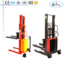 1t ac motor electric mini truck 1-2ton pallet stacker with CE,ISO semi-electric pallet stacker price