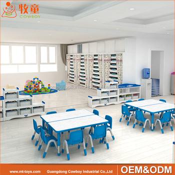 Preescolar Muebles Del Cabrito Conjunto Utilizado Guardería Muebles ...