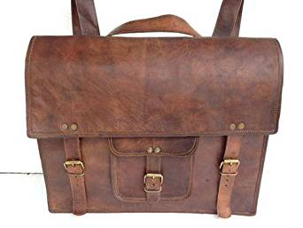 8a01dc996580 Komal s Passion leather Leather Messenger Laptop Briefcase Satchel Backpack  Bag