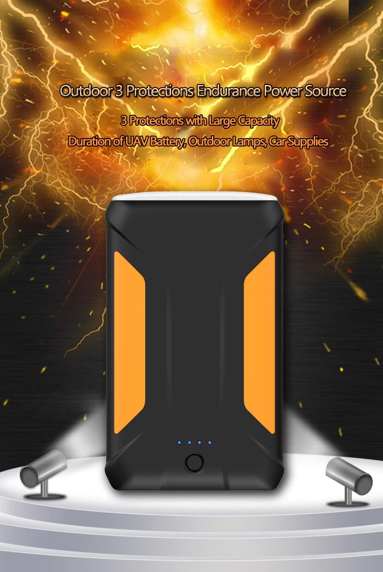3 USB38000mAh12V Output Power Bank with DC cigarette lighter socket supply for Car Charger