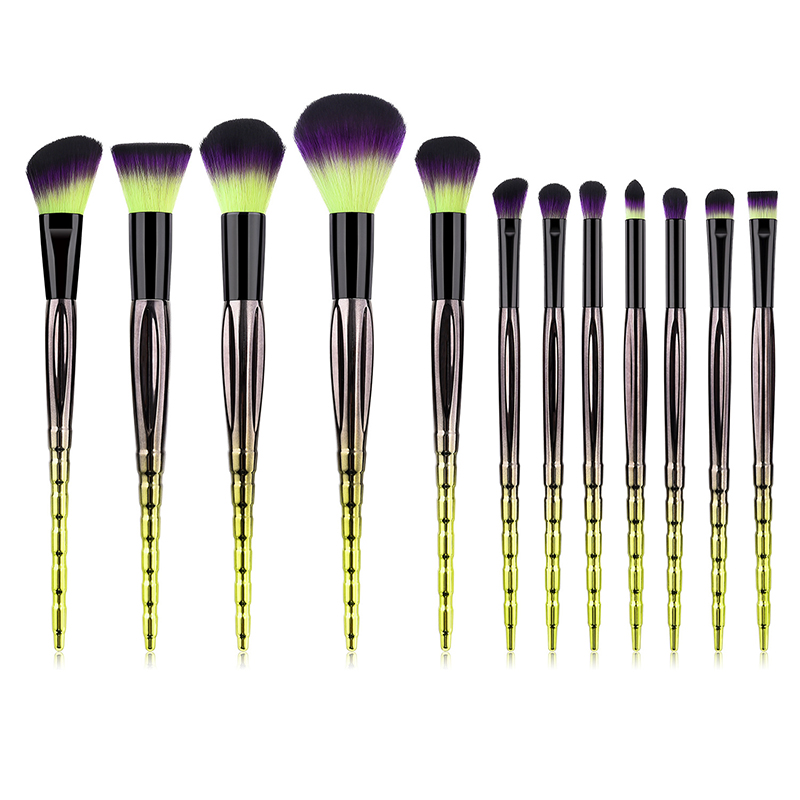 FLD 12Pcs customization <strong>high</strong> <strong>quality</strong> Private Label Colorful <strong>makeup</strong> <strong>brushes</strong> set Face powder blush fan <strong>brush</strong> set Eye <strong>makeup</strong> <strong>brush</strong>