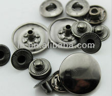 alloy gun metal snap button custom design
