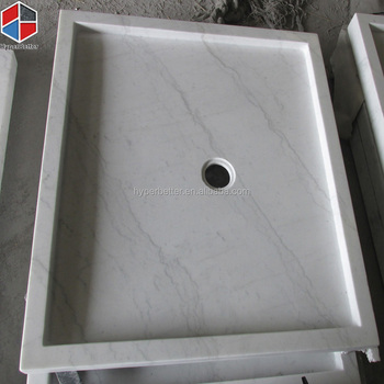 Natural square marble shower tray