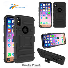 XDDZ 2017 Mobile Phone Accessories Factory in China Armor 3 in 1 Mobile Phone Cover for iPhone 8 Case,for iPhone8 with Kickstand