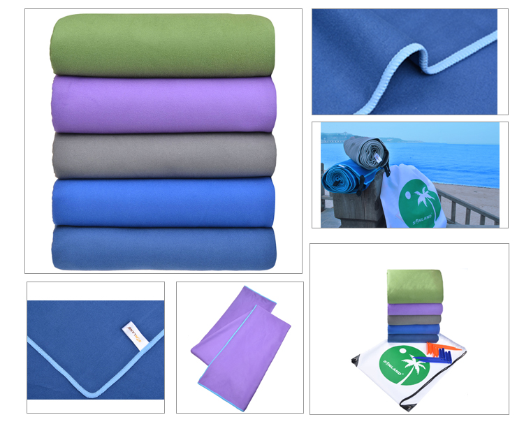 Sunland factory Direct Wholesale microfiber bath shower beach towel