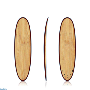 8.6' bamboo long surfboard, wood surf long boards