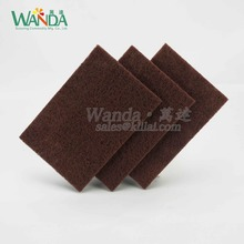 Home Kitchen Abrasive Red-Brown Nylon Scouring Pad