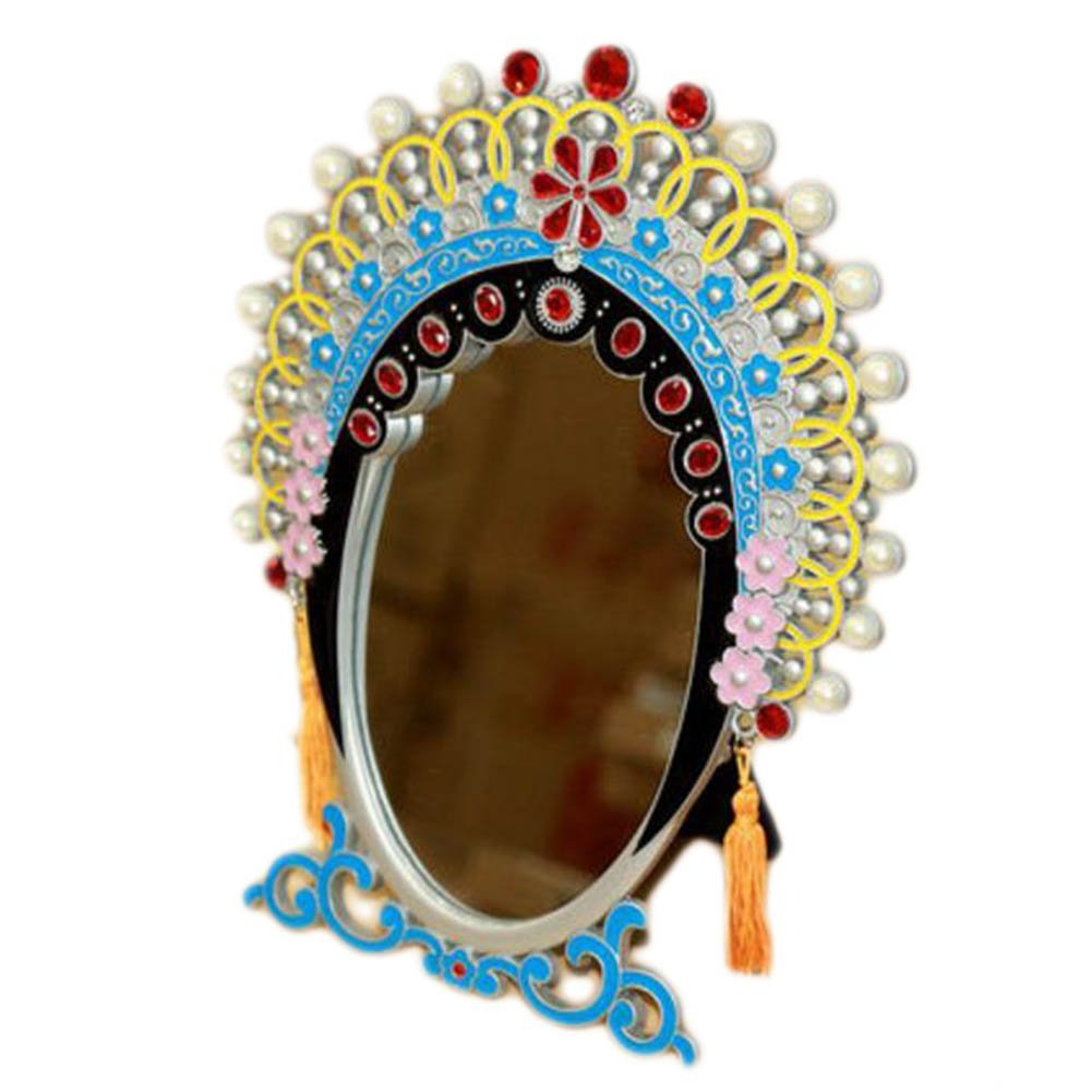 Chinese Style Beijing Opera Make Up Cosmetic Mirror Creative Ornament Mirror-A05