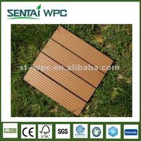 Waterproof WPC Material Deck Tiles Outdoor Flooring