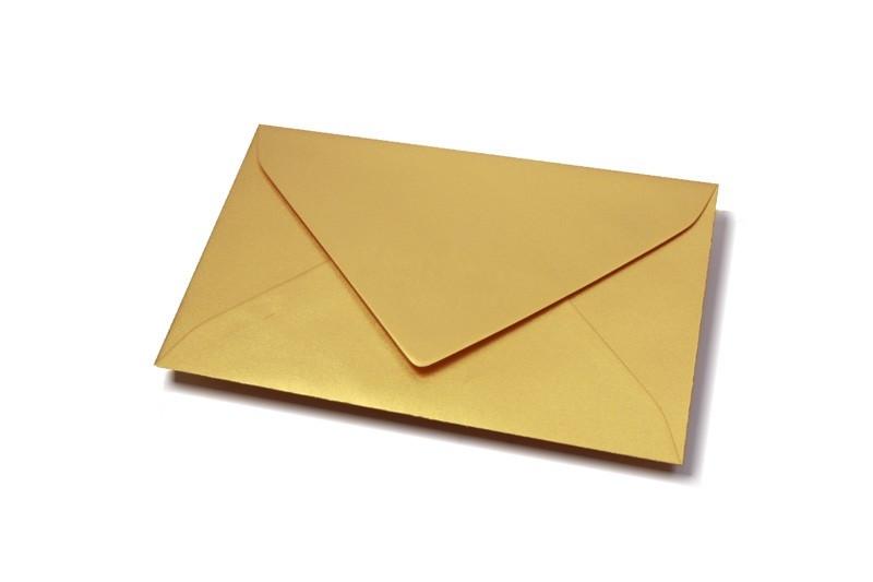 Custom Large Envelope Sizes Print Yellow Gold Envelopes