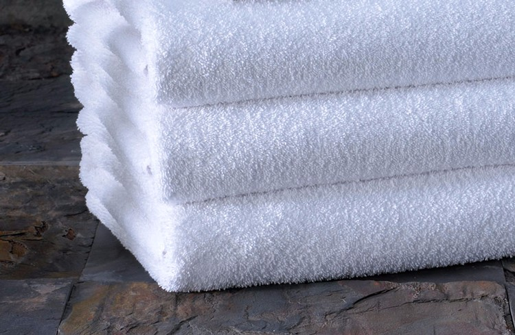 Wholesale Customizable Embroidery Woven Cotton White Hotel Bath Terry Towel