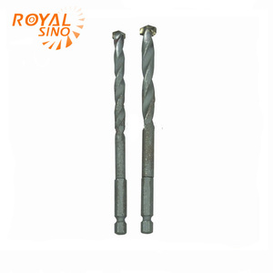 Copper hex shank hammer drill bit for drilling stone