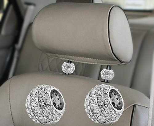 Get Quotations Icy Crystal Car Seat Headrest Decoration Charms Bling Accessories For Women