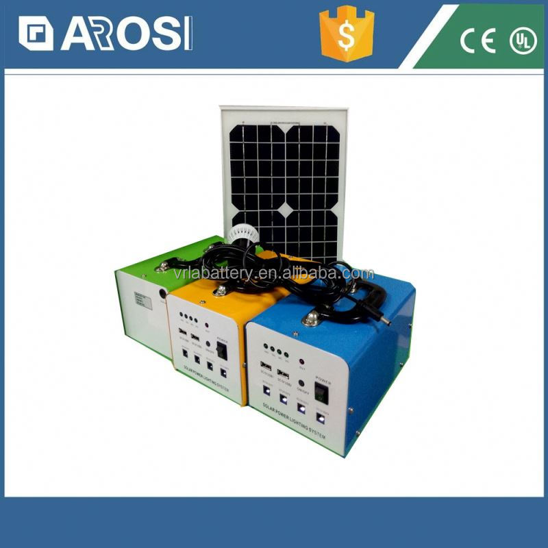 2015 hot sale Arosi dual axis solar tracking system 10w 7ah poly mini system china supplier
