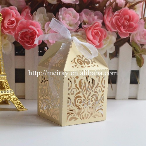 Chinese wholesale islamic wedding favors, laser cut candy box party decorations