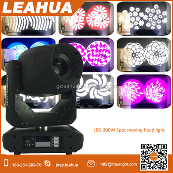 used stage for sale dmx 1 200w white led moving head spot light with 9colors and double gobo. Black Bedroom Furniture Sets. Home Design Ideas