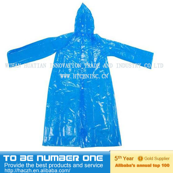 disposable raincoat, poncho raincoat,kids pvc long raincoat supplier