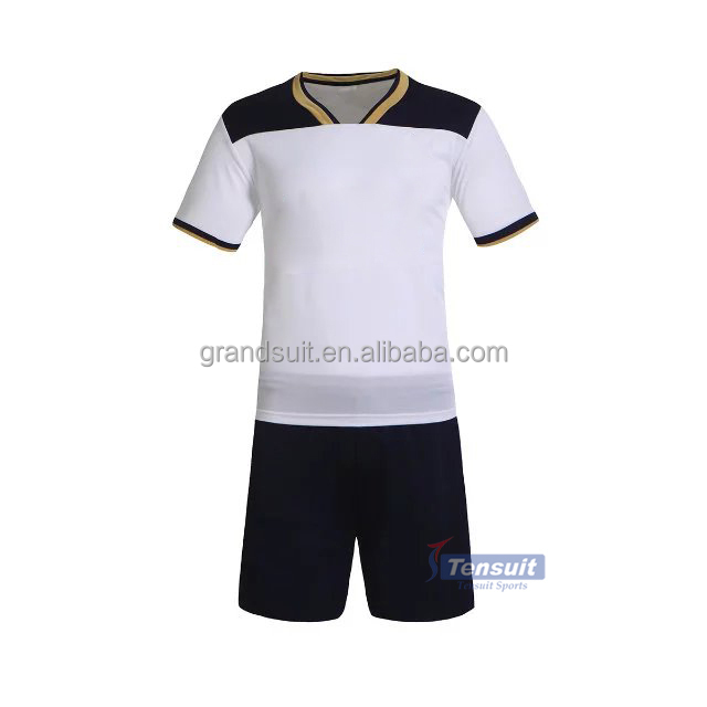 Marketable cheap soccer jersey set high quality stylish in all football team customize blank soccer uniform outfit