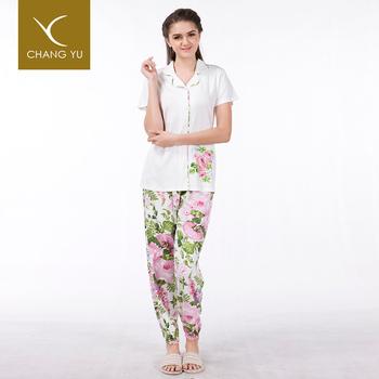 d27cabd18ba0 Wholesale Plus Size Ladies Button Bottom Pajamas Women 2019 Summer ...