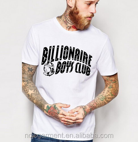 Free samples BILLIONAIRE BOYS CLUB 95 cotton 5 spandex man t Shirts pakistan