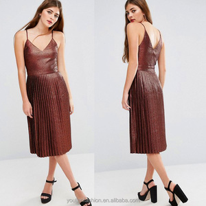2016 Women Sexy v-neck Backless pleated Cocktail Party Dress