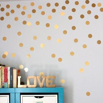 Jk045 Moda Personalizzata Punto Decorativi Adesivi Murali Camera Da Letto  Soggiorno Sfondo Adesivi Murali Carta Da Parati Oro - Buy Adesivi ...
