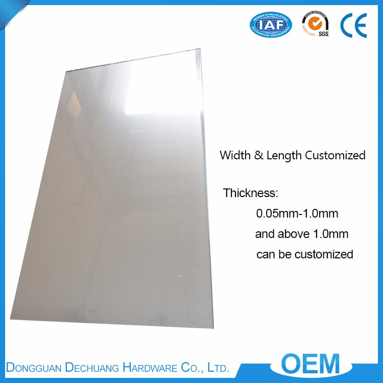 Best choice wholesale 0.1 mm thickness customized hardness finish press plate 201 stainless steel plate