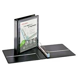 Office Depot EasyOpen ClearVue Locking Slant-D Ring Binder, 1 1/2in. Rings, Letter Size, 57% Recycled, Black, OD302524