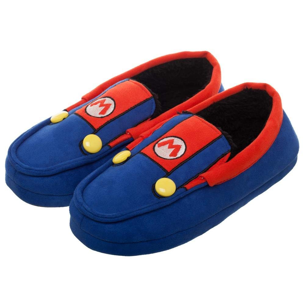 b86b299778f Get Quotations · Super Mario Slippers Mario Footwear - Mario Brothers  Slippers Mario Gift - Mario Slippers