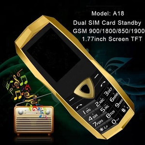 China mini unlock GSM A18 cheap dual sim cell phone 1 77 inch 1600mAh MP3  camera with luxury leather case wholesale or sample