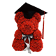 Factory Production Hand Made Teddy Bear Artificial Forever Flowers rose bear for Valentine's Day Graduation and Weddings