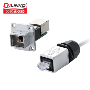 China Factory Cnlinko Supply Panel Mount Waterproof IP67 RJ45 Jack for LED Display Screen