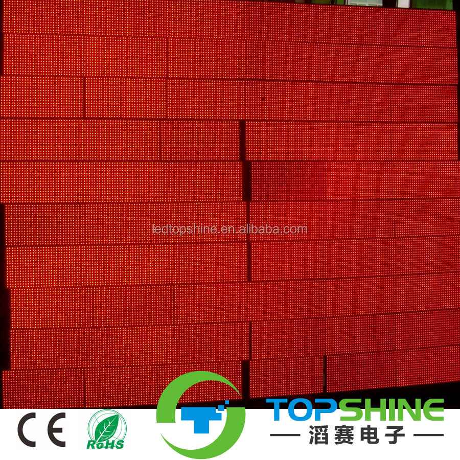 TS Best Quality semi-outdoor indoor outdoor single red color led display P10 led module waterproof