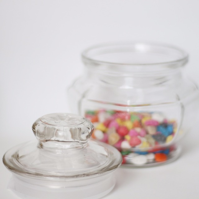 High grade candy/Nut glass jar with lid and tap
