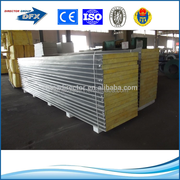 galvanized color steel lightweight insulation wall panels