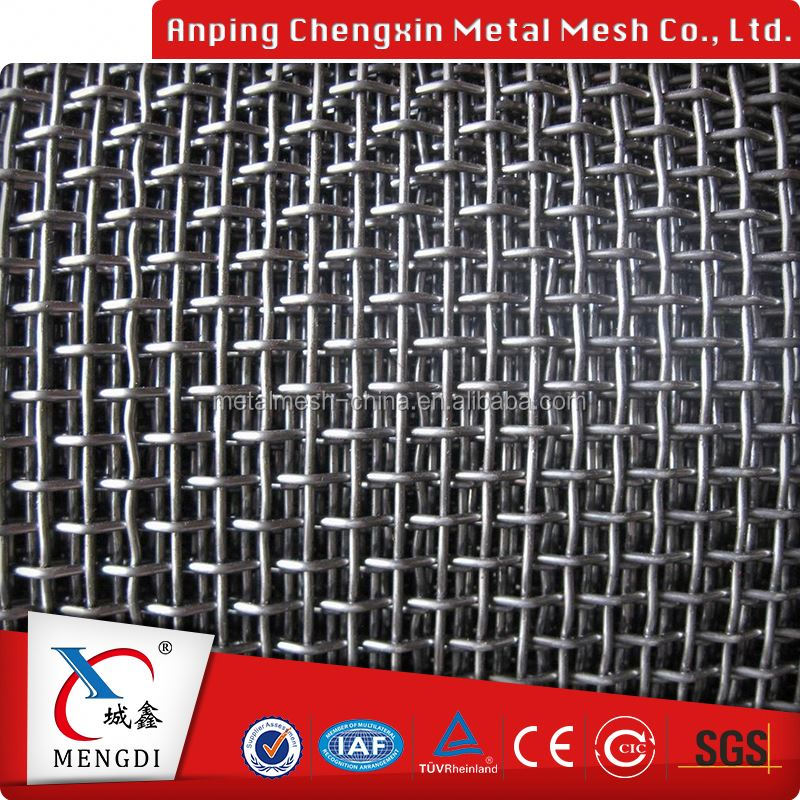 fine pure red crimped metal wire mesh