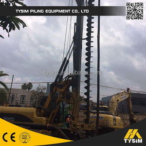 MOST Popular!!! Bored piles in CFA spiral piling machine, KR80M Hydraulic  rotary drilling rig