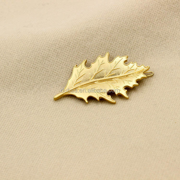 2 Celeb Godness Elegant Fashion Women Gold Plated Leaf Hair Cuff Clip Hairpin Accessory Goth Punk Boho